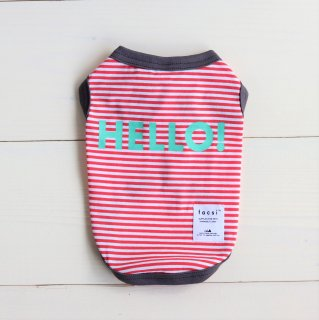 HELLO! Tank top<br>Red<br>Size S ~ XXL