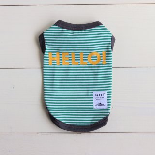 HELLO! Tank top<br>Green<br>Size S ~ XXL