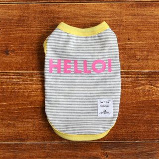 HELLO! Tank top<br>Grey<br>Size S ~ XXL