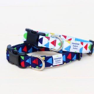 Zigzag Collar<br>Size S<br>Navy / White