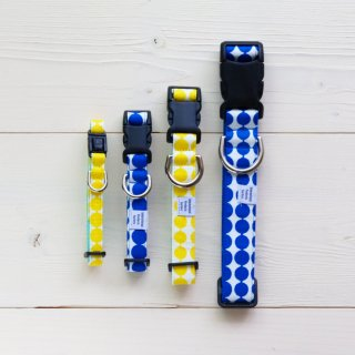 Globe Collar<br>Size M<br>Blue / Yellow