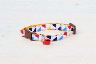 Cat collar<br>Zigzag<br> [White]
