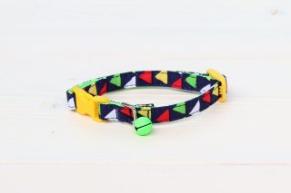 Cat collar<br>Zigzag(ジグザグ)<br> [Navy]