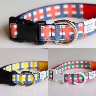 Lattice Collar<br>Size M<br>Navy / Pink