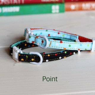 Point Collar<br>Size SS<br>Black / Mint
