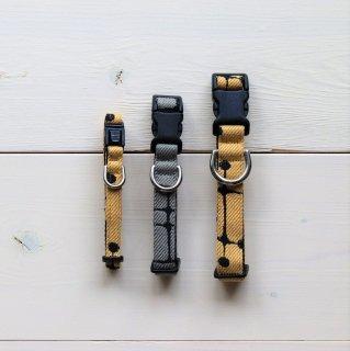Dotpattern Collar<br>Size L<br>Grey / Camel