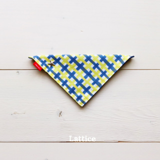Lattice  Bandana<br>Yellow<br>Size 1 / 2 / 3<img class='new_mark_img2' src='https://img.shop-pro.jp/img/new/icons5.gif' style='border:none;display:inline;margin:0px;padding:0px;width:auto;' />