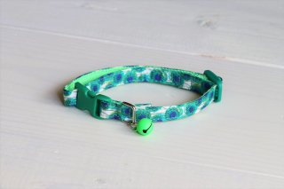 Cat collar<br>LIBERTY Sunbeam<br>Green<img class='new_mark_img2' src='https://img.shop-pro.jp/img/new/icons5.gif' style='border:none;display:inline;margin:0px;padding:0px;width:auto;' />