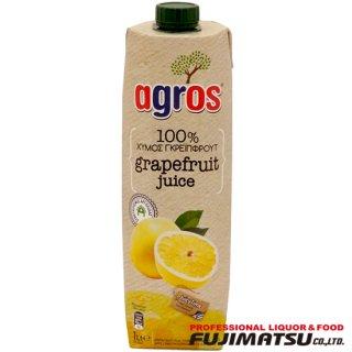 agros グレープフルーツジュース 濃縮還元 100% 1L アグロス 濃縮果汁還元ジュース*12本まで1個口で発送可能