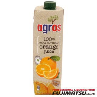 agros オレンジジュース 濃縮還元 100% 1L アグロス 濃縮果汁還元ジュース*12本まで1個口で発送可能