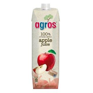 agros アップルジュース 濃縮還元 100% 1L アグロス 濃縮果汁還元ジュース*12本まで1個口で発送可能