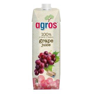 agros グレープジュース 濃縮還元 100% 1L アグロス 濃縮果汁還元ジュース*12本まで1個口で発送可能
