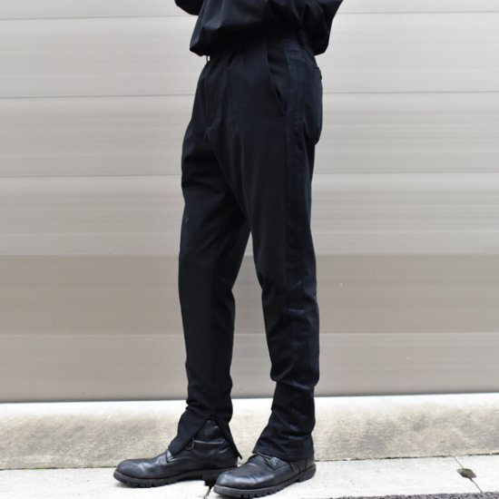 rin Line Slim Slacks Pants BK