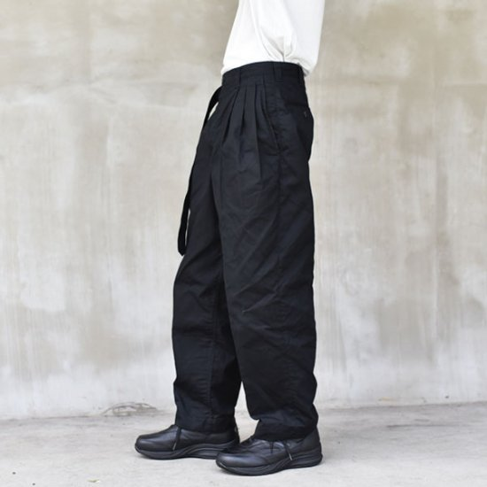 WAXWORK WIDE TUCK PANTS