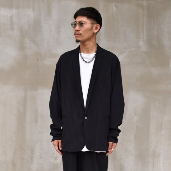 rin / Stripe Over Jacket Bk
