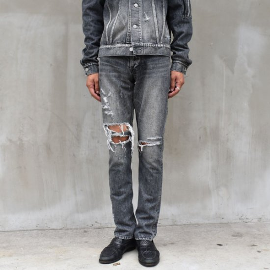 rin /Vintage Crash Denim Skinny Pants