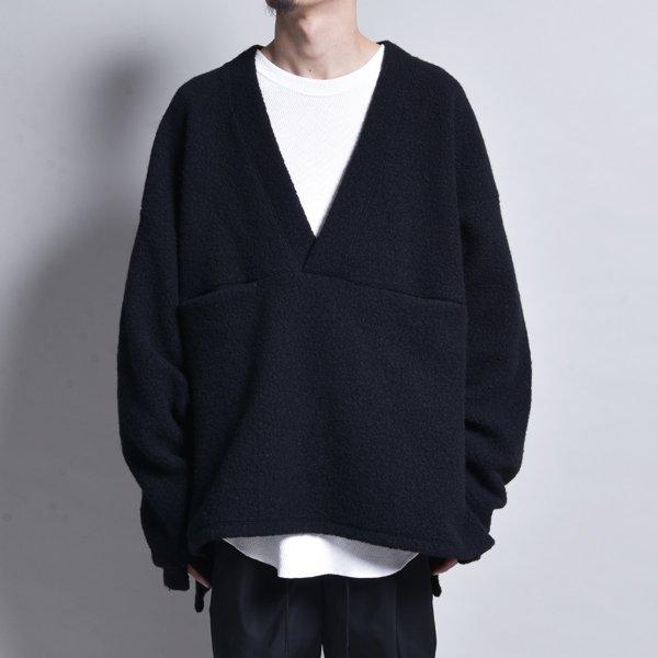 rin / V Loose Knit Sleeve Black