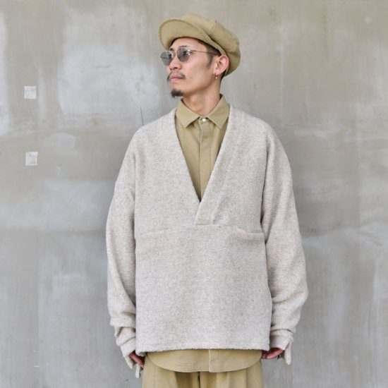 rin / V Loose Knit Sleeve BEI
