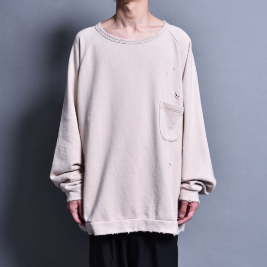 メンズファッションrin / Sweat PK Raglan Sleeve BEI