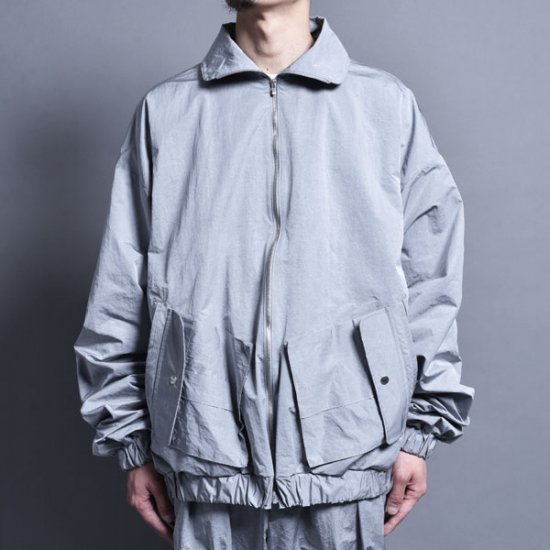 rin / Wide Short Drizzler Jacket Silver GREY
