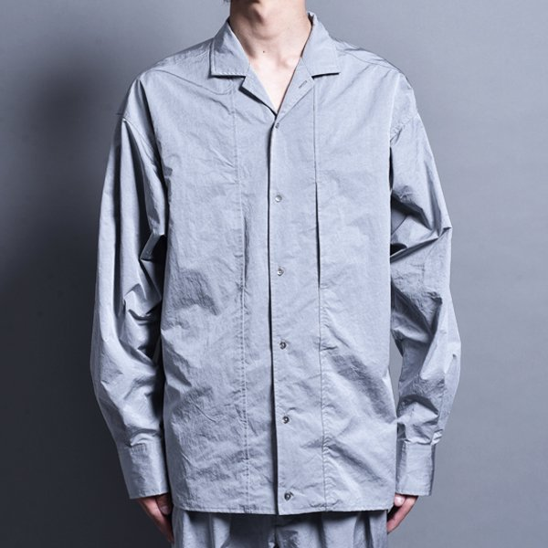 rin / Nylon Switch L/S Shirt SILVER GREY