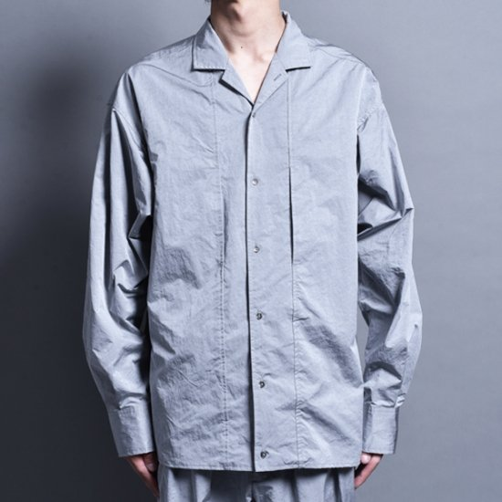 メンズファッションrin / Nylon Switch L/S Shirt SILVER GREY