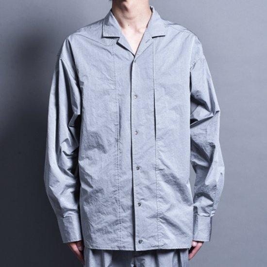 rin / Nylon Switch L/S Shirt SILVER GREY