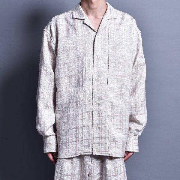 rin / Jacquard Switch L/S Shirt BEI(LAST)