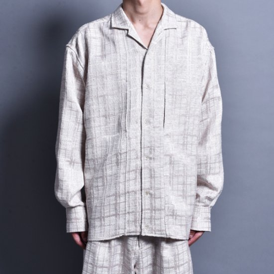 メンズファッションrin / Jacquard Switch L/S Shirt BEI