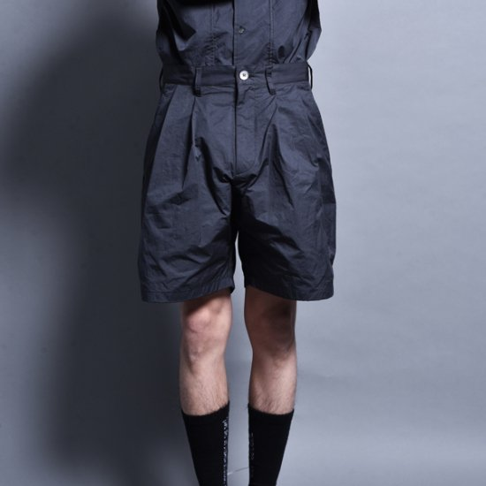 メンズファッションrin / Two Tuck Short Pants CARBON BLACK