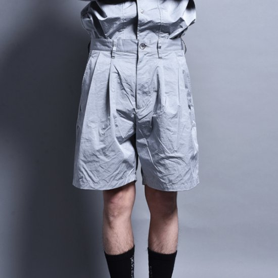 メンズファッションrin / Two Tuck Short Pants SILVER GREY
