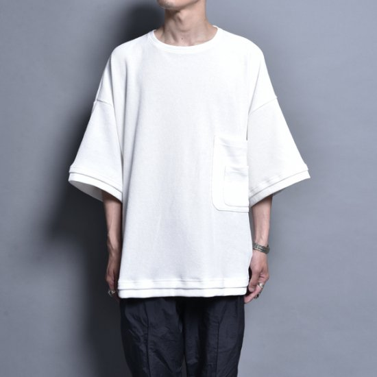 rin / Double PK S/S Tee WH