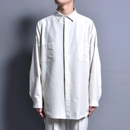 rin / Big Slit L/S Shirt CRM WH