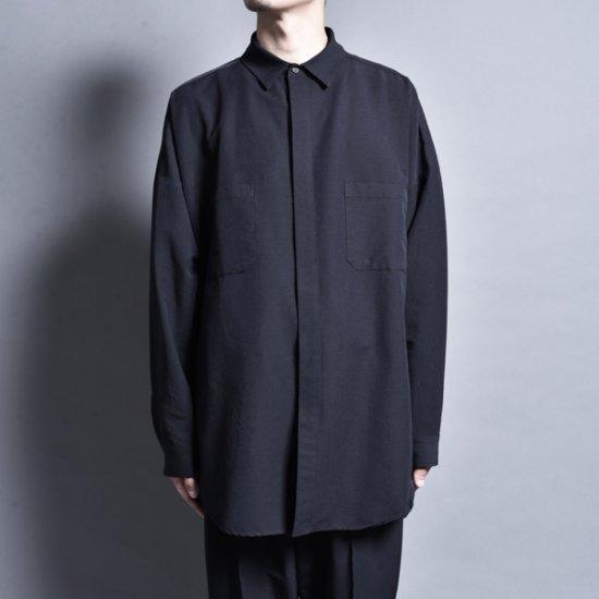rin / Big Slit L/S Shirt BK