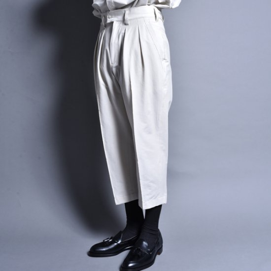 メンズファッションrin / Cropped Slacks Pants CRM WH