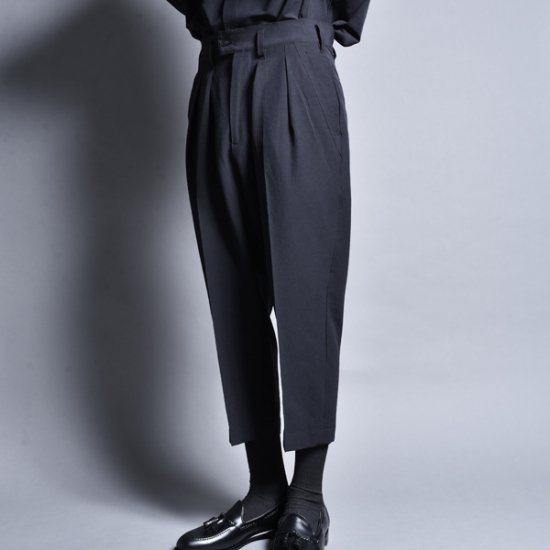 rin / Cropped Slacks Pants BK