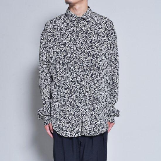 rin / Gara Loose L/S Shirt BK