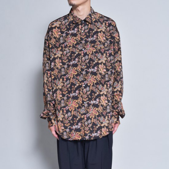 rin / Gara Loose L/S Shirt BK ORG