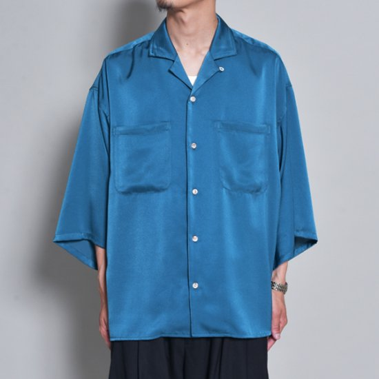 メンズファッションrin / Silky OP Over S/S Shirt TUR