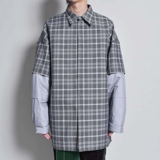 JERIH / DETACHABLE PADDED SLEEVE SHIRT JACKET