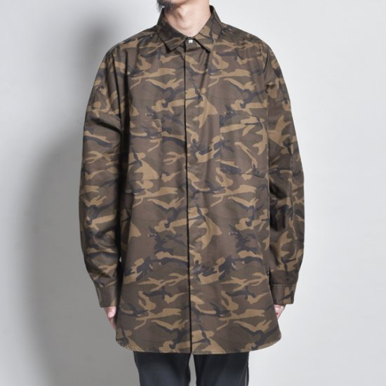 メンズファッションrin / CAMO Big Slit Dolman L/S Shirt
