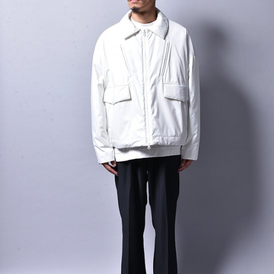 メンズファッションJERIH / WHITE UNBLANCED PADDED SPORT JACKET