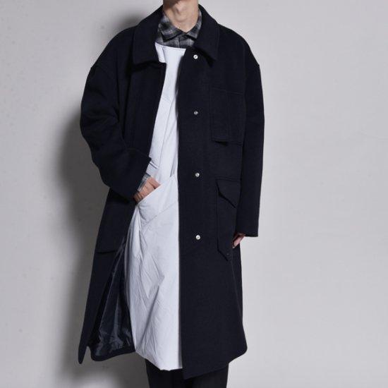 メンズファッションJERIH / PADDED DOUBLE FRONT FIREMAN COAT