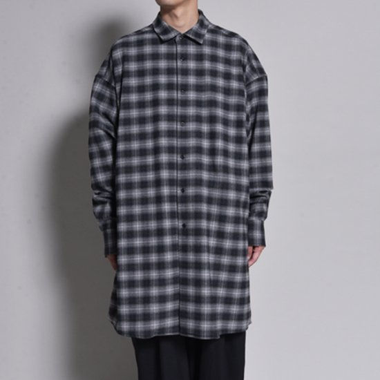 rin / Long Gown L/S Shirt CHECK