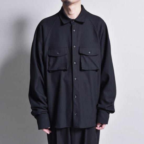 メンズファッションrin / Raglan Loose L/S Shirt BK