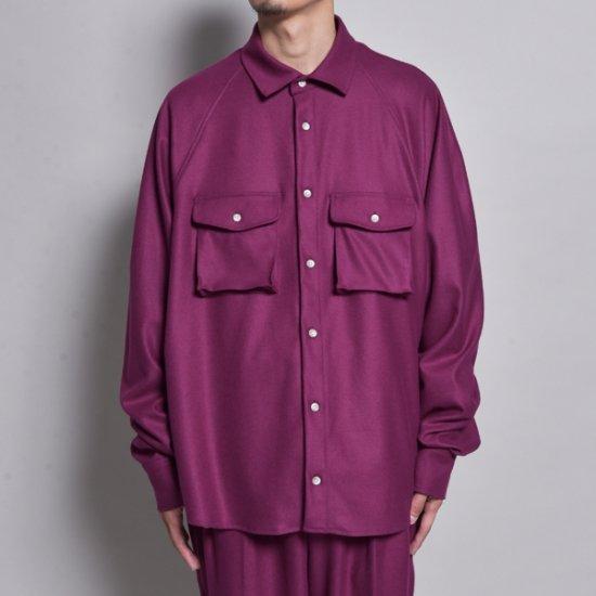 メンズファッションrin / Raglan Loose L/S Shirt PUR