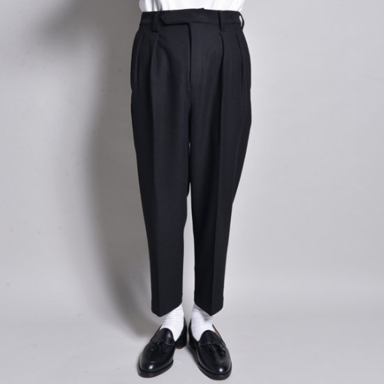 rin / Loose Cropped Slacks Pants BK