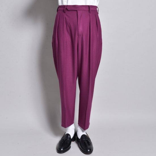 メンズファッションrin / Loose Cropped Slacks Pants PUR