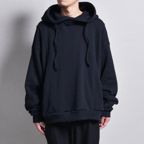 rin / Wide Short Loose Hoodie BLACK