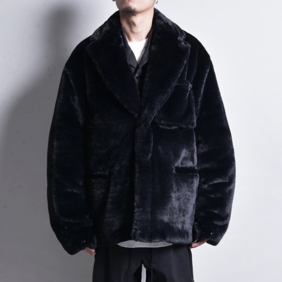 rin / Fur Double Jacket BLACK